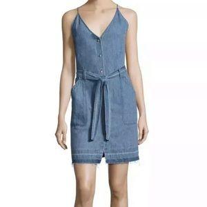 J brand xs tank denim jean strap dress blue new